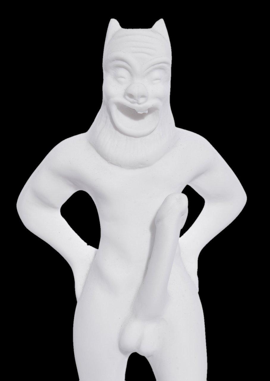 Satyros greek alabaster statue