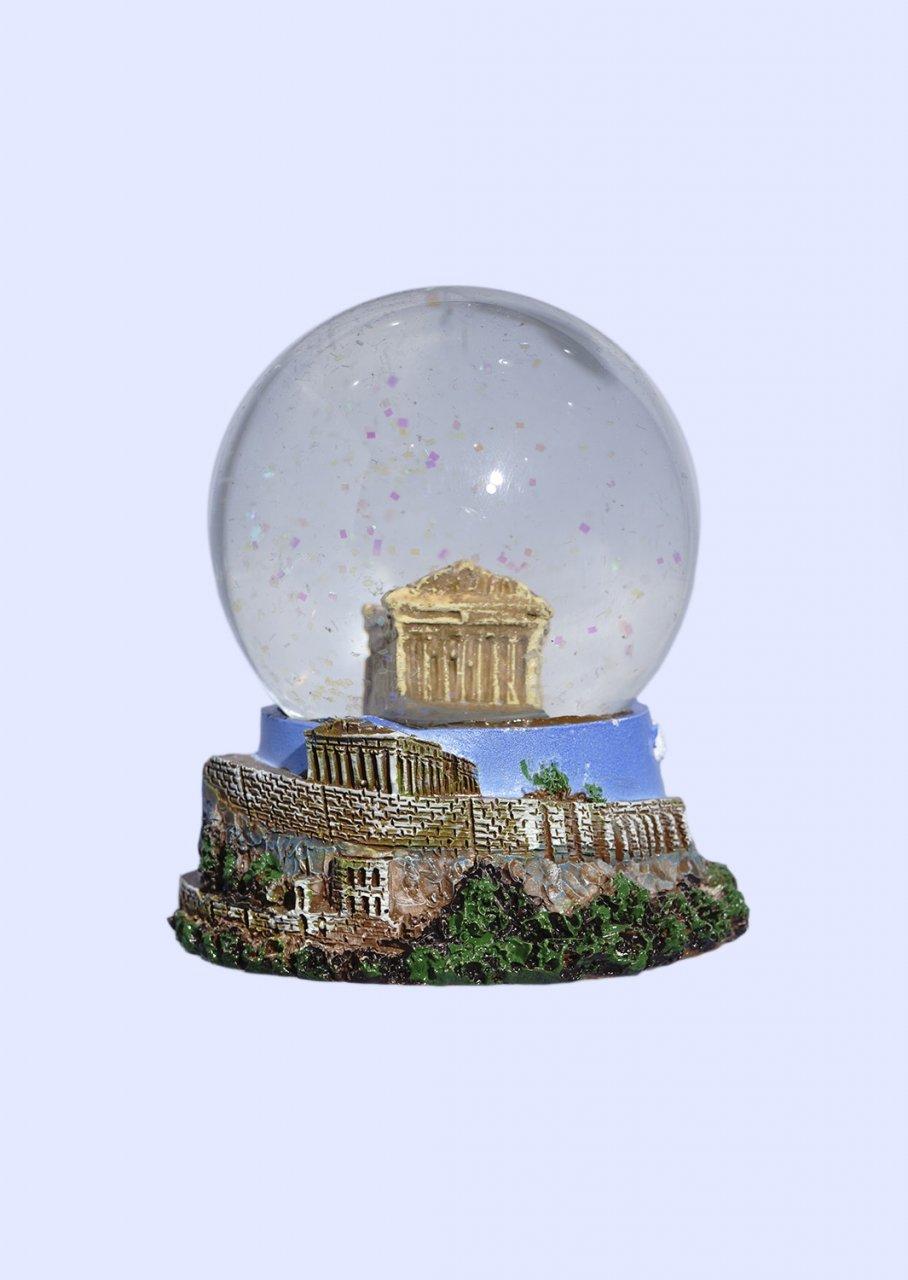 Parthenon Snowglobe - Acropolis, base decorated with relief of Acropolis
