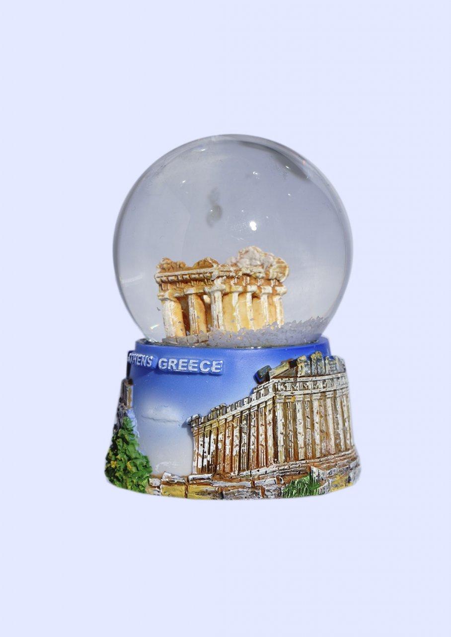 Small Parthenon Snowglobe - Acropolis base