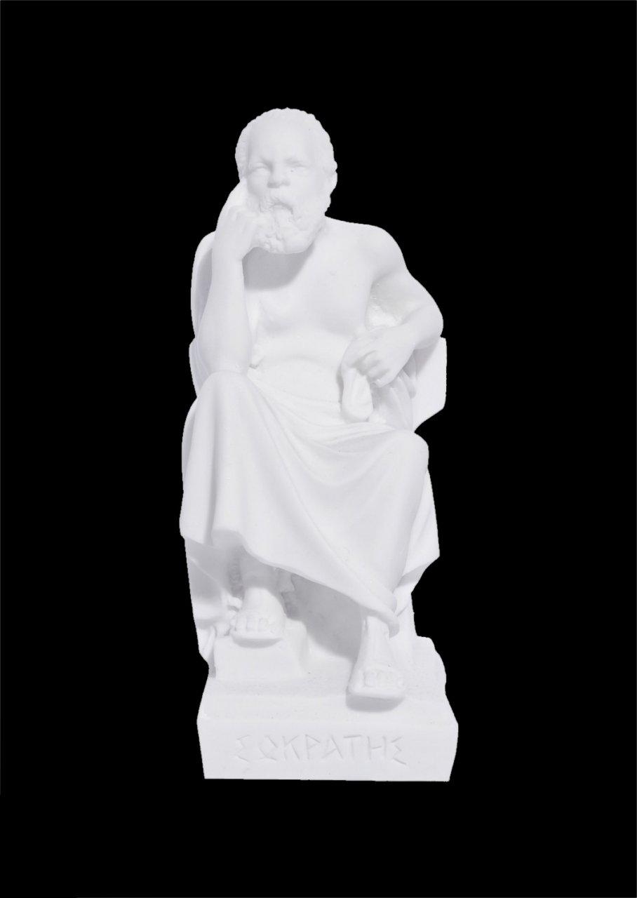 Socrates greek alabaster statue