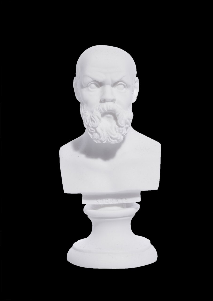 Socrates greek alabaster bust statue