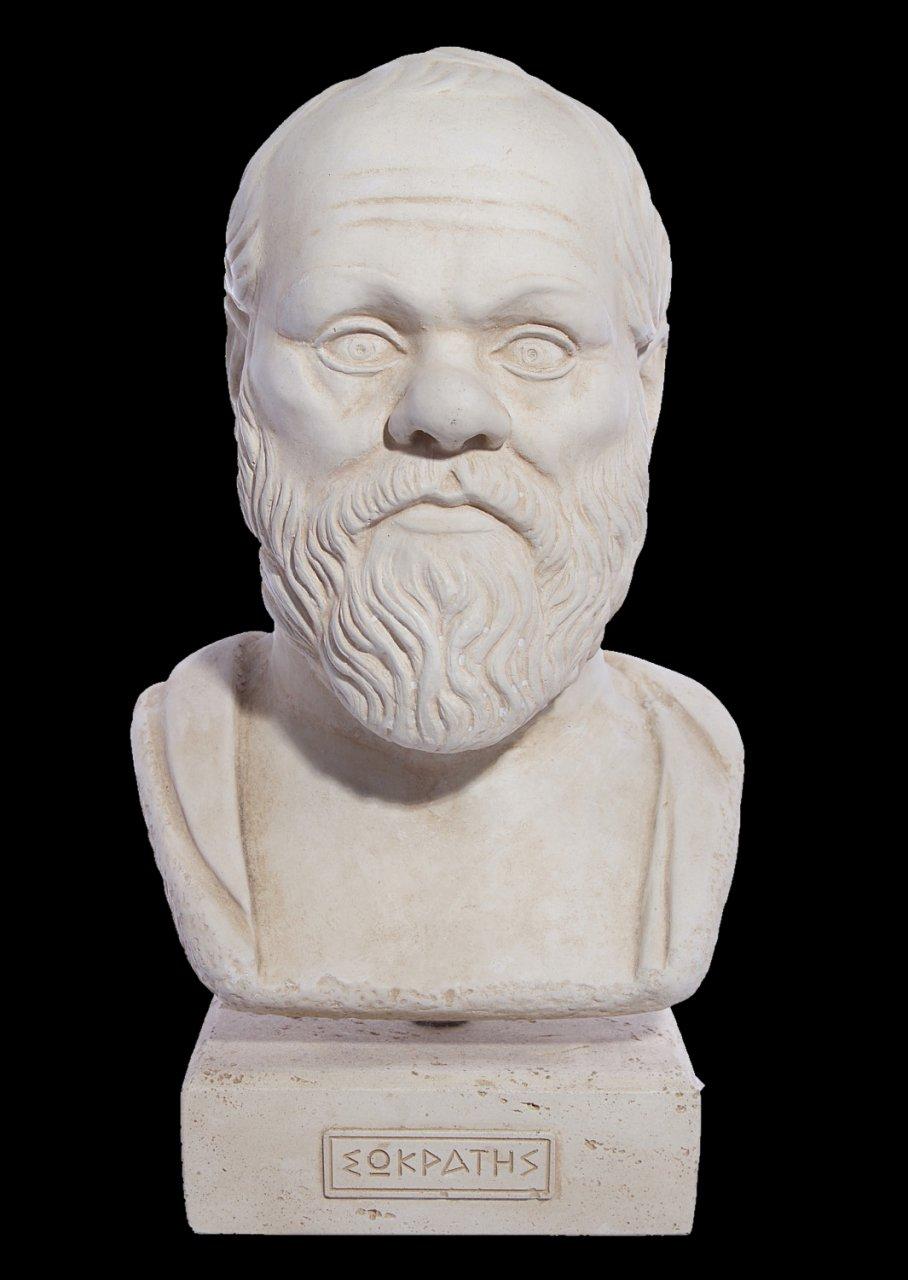 Socrates greek plaster bust statue