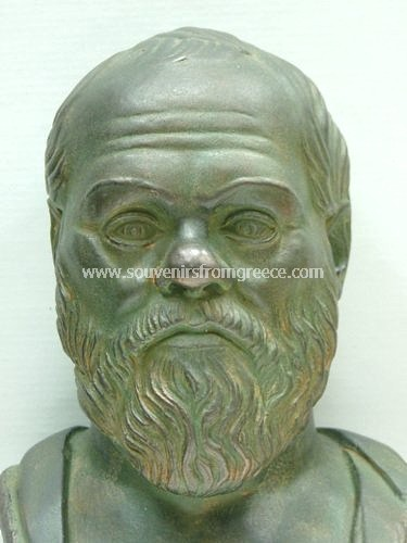 Socrates greek plaster bust statue Greek statues Greek Busts Sculptures