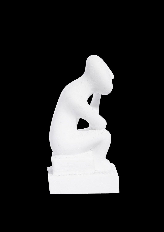 Thinker figurine greek cycladic art statue