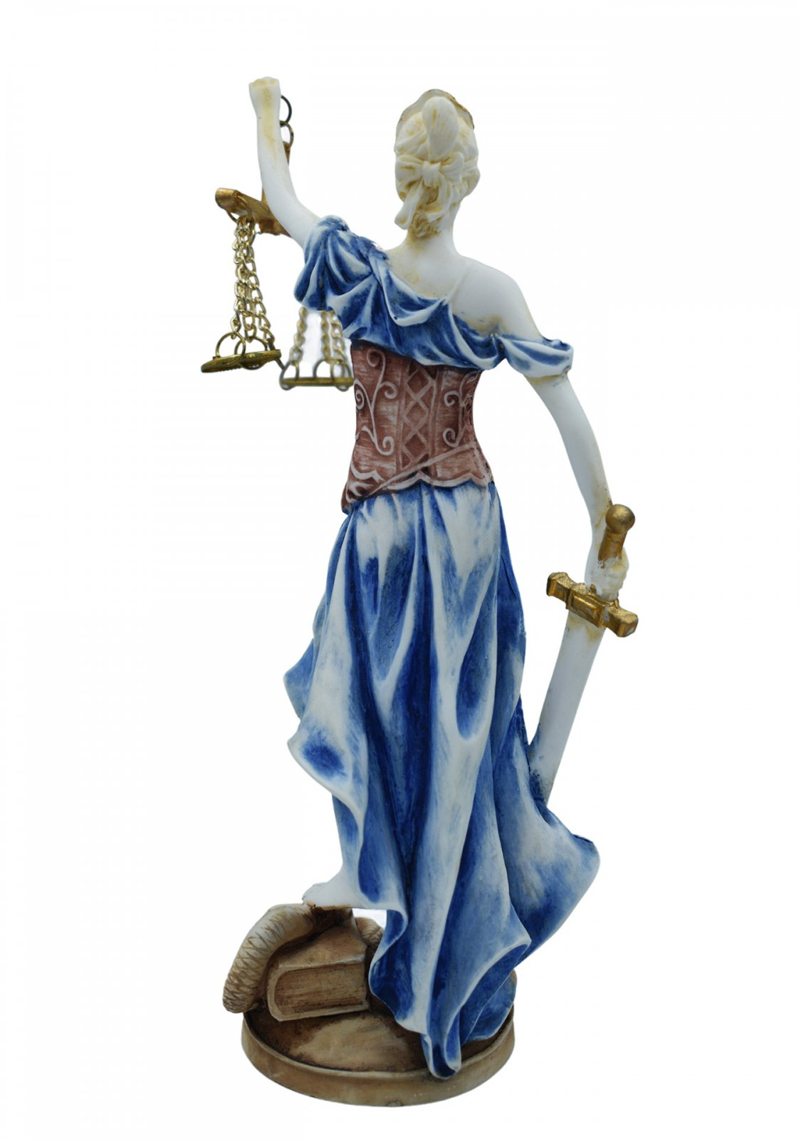 Themis, the greek goddess of justice, alabaster statue