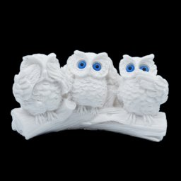 The three wise owls alabaster statue, the symbol of goddess Athena and wisdom 1