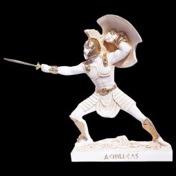 Achilles with his spear greek alabaster statue 1