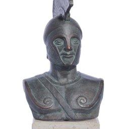 Achilles of Trojan war green plaster bust sculpture 1