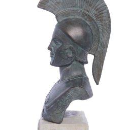 Achilles of Trojan war green plaster bust sculpture 2