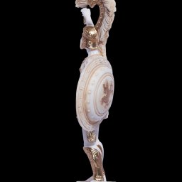 Achilles with his sword and shield, greek alabaster statue 2