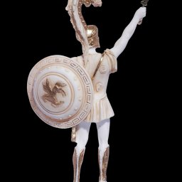 Achilles with his sword and shield, greek alabaster statue 4