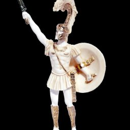 Achilles with sword and scabbard greek alabaster statue 1