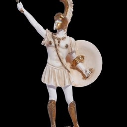 Achilles with sword greek alabaster statue 1