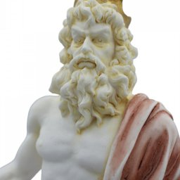 Hades, Pluto, God of the dead and the king of the underworld, greek alabaster statue with color 4