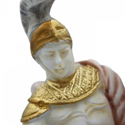 Alexander The Great riding Bucephalus, alabaster statue with color 4