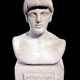 Apollo greek plaster bust statue 1