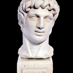 Greek plaster bust statue of Apollo 1
