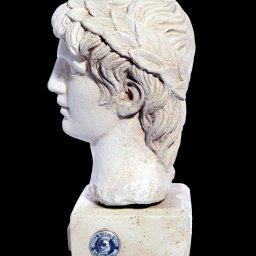 Greek plaster bust statue of Apollo 2
