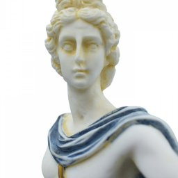 Apollo greek alabaster statue with color and patina 3