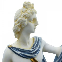 Apollo greek alabaster statue with color and patina 4