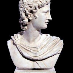 Apollo greek plaster roman bust statue 1