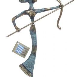 Medium bronze statue of Goddess Artemis holding her bow and arrow 1