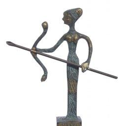Bronze statue of Artemis goddess of the hunt 1