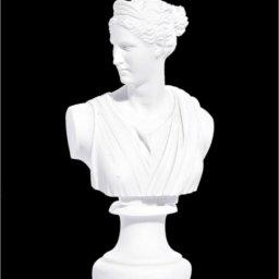 Artemis (Diana) greek alabaster bust statue 1
