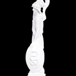 Greek alabaster statue of the goddess Athena 2