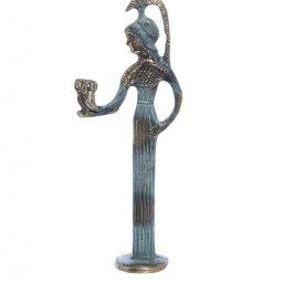 Bronze statue of Goddess Athena holding an owl 1