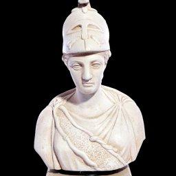 Athena greek plaster bust statue 1