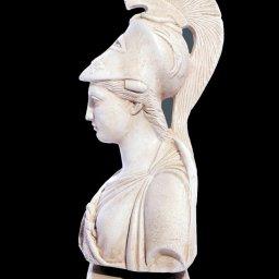 Athena greek plaster bust statue 2