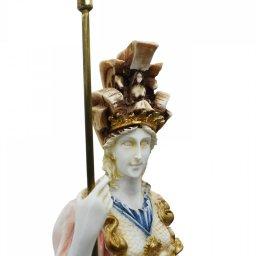 Goddess Athena, large greek alabaster statue with color 4