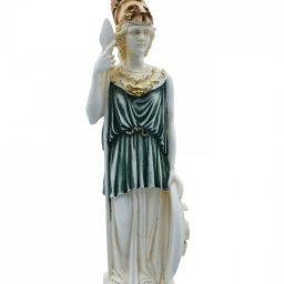 Goddess Athena, greek alabaster statue with color 1
