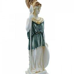 Goddess Athena, greek alabaster statue with color 2