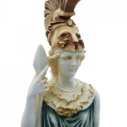 Goddess Athena, greek alabaster statue with color 4