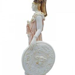 Athena Pallas, Greek goddess of wisdom, alabaster statue with color 2