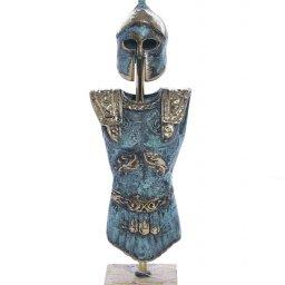 Bronze armour of King Leonidas on marble base 1