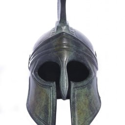 Greek bronze statue of Athenian helmet 2
