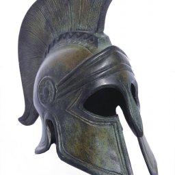 Greek bronze statue of Athenian helmet 1