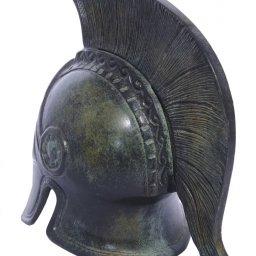 Greek bronze statue of Athenian helmet 3