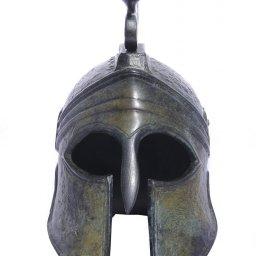 Greek bronze statue of a helmet from Argos 2
