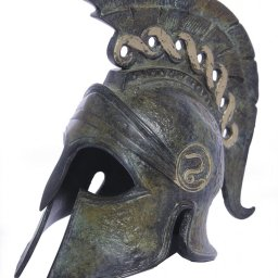 Greek bronze statue of a helmet from Argos 1