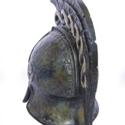Greek bronze statue of a helmet from Argos 3