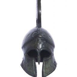 Achilles helmet greek bronze statue 2
