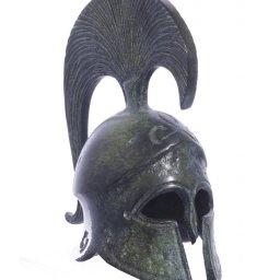 Achilles helmet greek bronze statue 1
