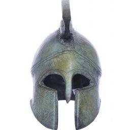 Athenian helmet greek bronze statue 2