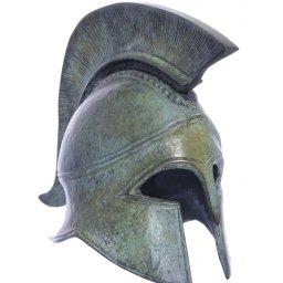 Athenian helmet greek bronze statue 1