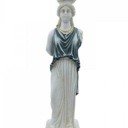 Caryatid greek alabaster statue 1