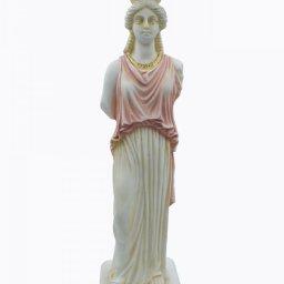 Caryatid greek alabaster statue - pink 1